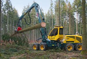 radmobile Holzerntemaschine