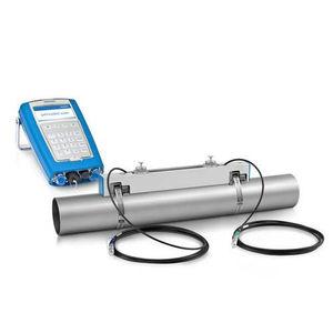 Ultraschall-Durchflussmesser / für Flüssigkeiten / Metallrohr / mit Anzeige