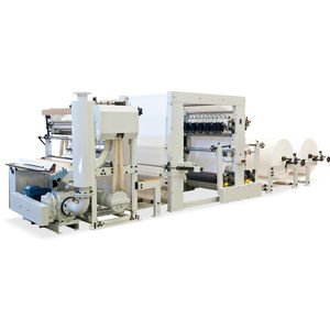 Faltmaschine für Papiertücher / für Reinigungstücher