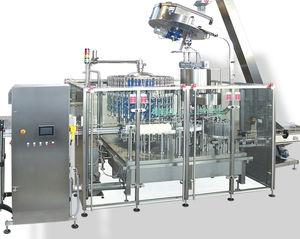 Abfüllanlage für Flüssigkeiten / für Glasbehälter / automatisch / volumetrisch