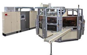 automatische Siebdruckmaschine / servogesteuert / 8-Farben / für Kunststoffrohre