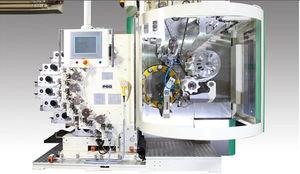 automatische Siebdruckmaschine / 9-Farben / für zylindrische Produkte / drehbar