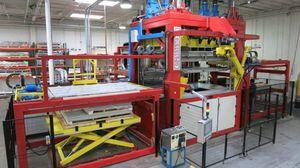 Twin-Sheet-Platten-Thermoformmaschine