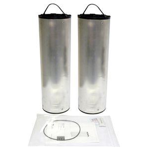 Luftfilterpatrone / Aktivkohle / Metall / Hochleistung