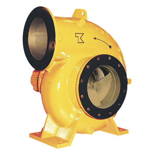 Halbaxiale-Pumpe