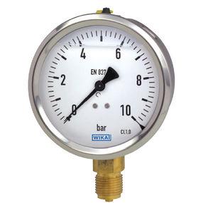 analoges Manometer / Rohrfeder mit Flüssigkeitsfüllung / Prozess / für Gas