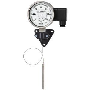 Thermometer / Gasdruck mit Fernleitung / analog / für Oberflächenmontage / Edelstahl