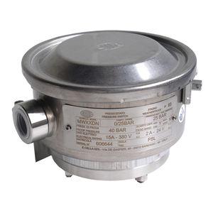 Druckschalter für Flüssigkeiten / für Gas / Membran / für die chemische Industrie