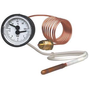 Fühler-Thermometer / analog / für Oberflächenmontage / mit Zifferblatt-Anzeige