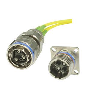 MiL-Steckverbinder / Hybrid / LWL / Rund