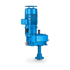Getriebe für Kondensator / Schneckenzahnrad / parallel / > 10 kNm