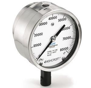 Manometer mit Zifferblatt-Anzeige / Rohrfeder mit Flüssigkeitsfüllung / Prozess / für Gas
