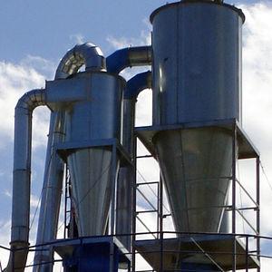 Zyklonabscheider / für Späne / für die Recyclingindustrie / vertikal