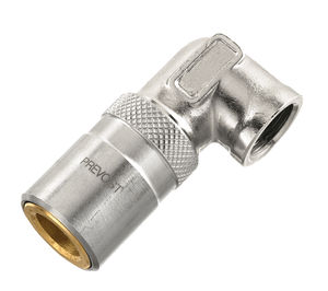 Schnellkupplung / 90°-Winkel / hydraulisch / aus Chrom