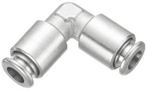 Push-in-Anschluss / 90°-Winkel / hydraulisch / aus vernickeltem Messing