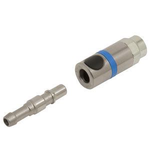Schnellkupplung / gerade / Druckluft / mit Sicherheitsvorrichtung