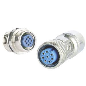 M12-Steckverbinder / Daten / gegossen / Rund
