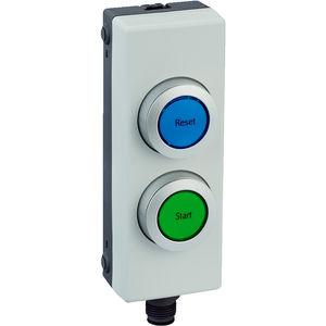 Rücksetz-Drucktaster / beleuchtet / IP65