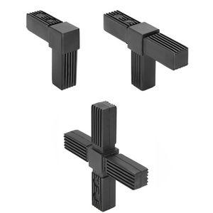 quadratischer Rohrverbinder / Polyamid / Stahl / Edelstahl