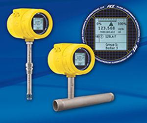 Durchflussmesser mit thermischer Ausbreitung / für Gas / digital / 4-20 mA