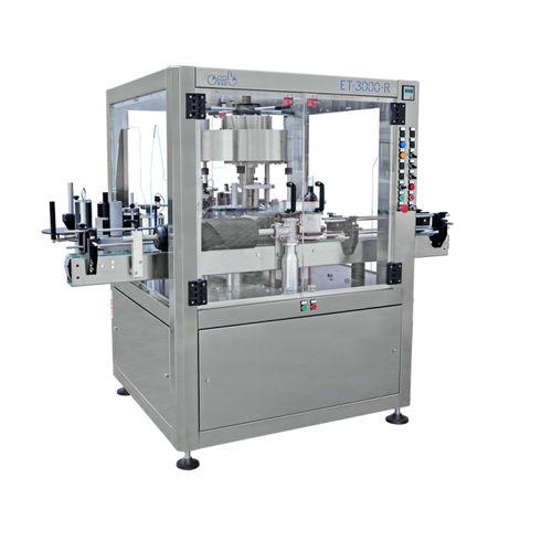 automatische Etikettiermaschine / für selbstklebende Etiketten / für die Getränkeindustrie / drehbar