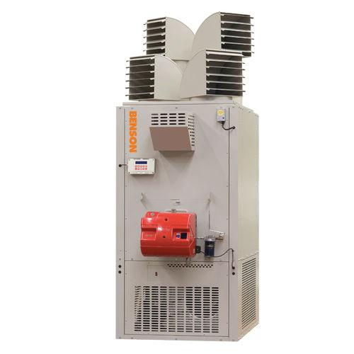 stationärer Heißluftgenerator / Heizöl / Gas / vertikal