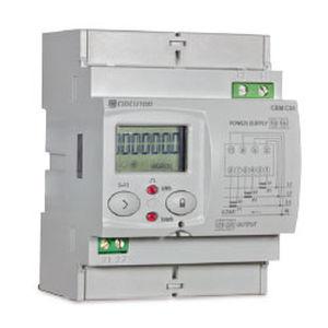 Elektrischer Energiezähler / 3-Phasen / DIN-Schienen / mit LCD-Display / programmierbar
