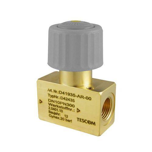 Handventil / für Gas / Messing / für hochreine Anwendungen