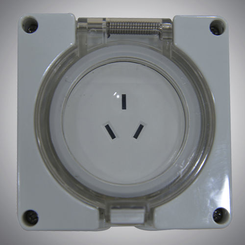 feststehende Steckdose / IP56 / wasserdicht / zweipolig