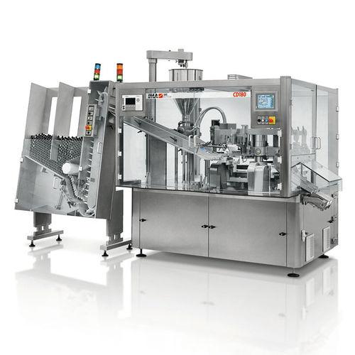 automatische Füll und Verschließmaschine / Rundlauf / für Pflanzenschutzmittel / für Pharmaprodukte