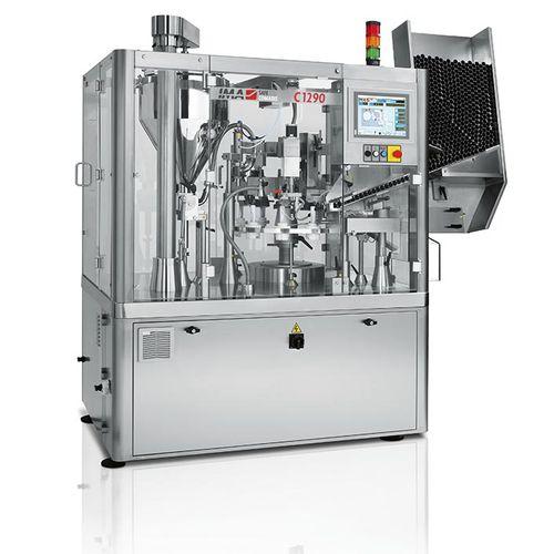 automatische Füll und Verschließmaschine / Rundlauf / für Pharmaprodukte / für Rohre