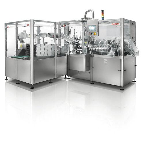 automatische Füll- und Verschließmaschine / Linear / für Rohre