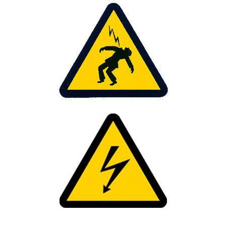 Elektrogefahr-Sicherheitszeichen