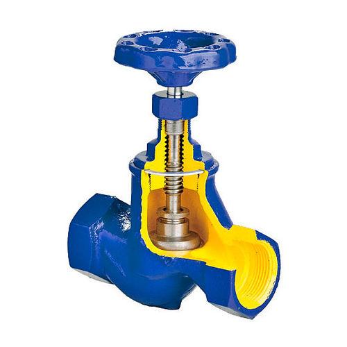 Kugelsitzventil / mit Handrad / zum Absperren / für Wasser