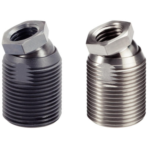 Maschinenfuß / Stahl / Einschraub / mit Gelenk