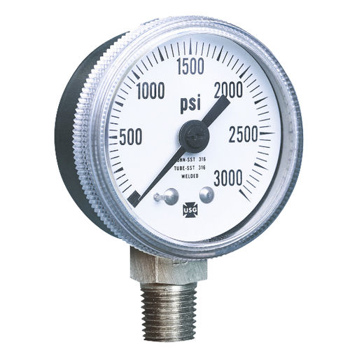 analoges Manometer / Rohrfeder / Prozess / für Luft
