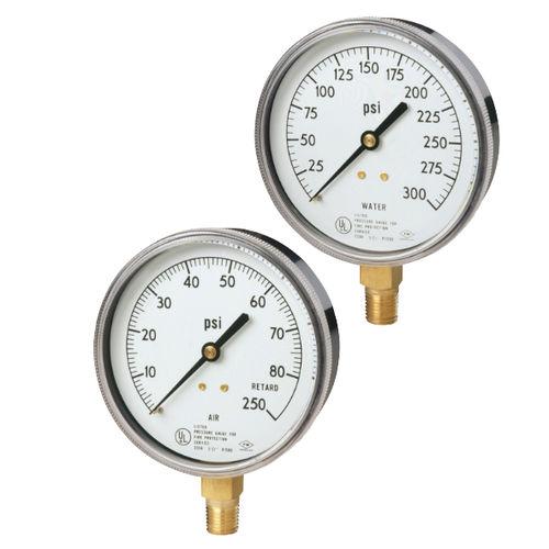 Manometer mit Zifferblatt-Anzeige / Rohrfeder / Prozess / für Luft
