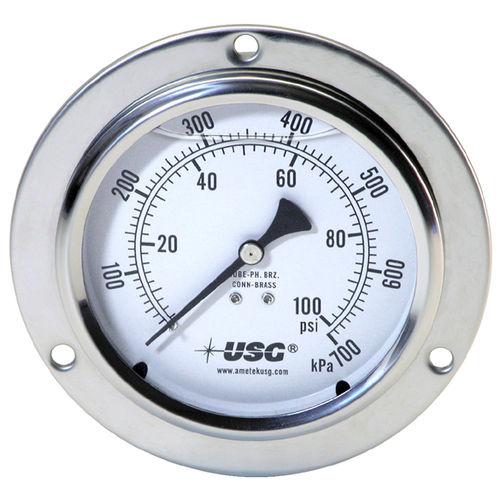 analoges Manometer / Rohrfeder mit Flüssigkeitsfüllung / Prozess / für Hydraulikanwendungen