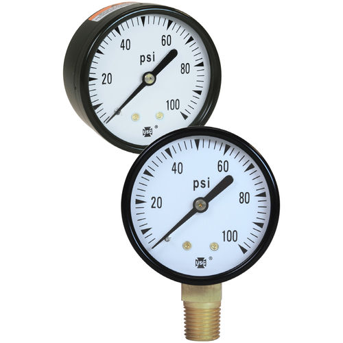 analoges Manometer / Rohrfeder / Prozess / Test