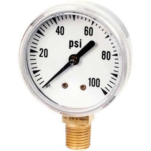analoges Manometer / Rohrfeder mit Flüssigkeitsfüllung / Prozess / Messing