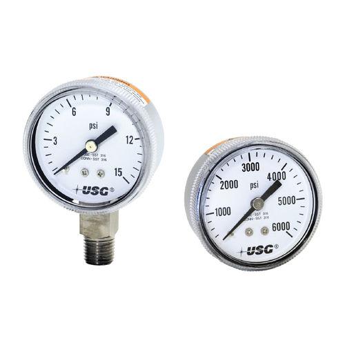 analoges Manometer / Rohrfeder / Edelstahl / OEM