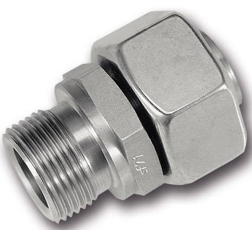 Schneidringverschraubung / Schraub / gerade / hydraulisch