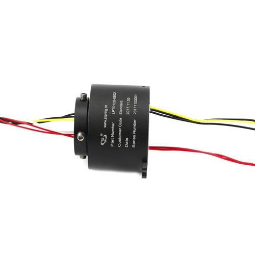 Schleifring zur Leistungs- und Signalübertragung / Hohlwelle / für Hydraulikanwendungen / kompakt