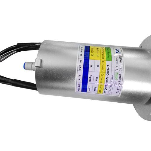 Schleifring zur Leistungs- und Signalübertragung / Vollwellen / für Industrieanwendungen / anodisiertes Aluminium