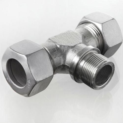 Schraub-Verschraubung / Schneidring / T / hydraulisch