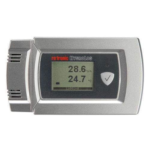 Datenlogger / Feuchtigkeit und Temperatur / mit PC-Schnittstelle / mit Display / für Lager