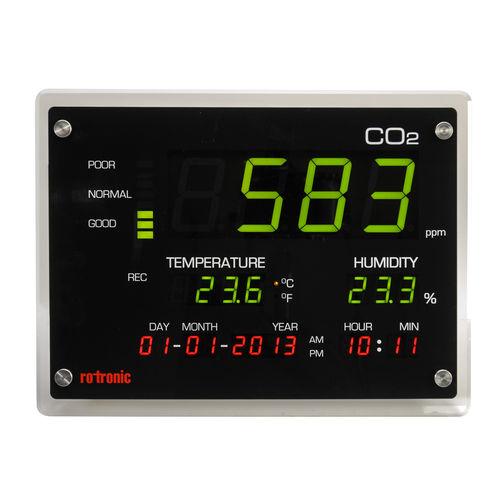 Display zur CO2-Messung / großformatig / Innenraum / wandmontiert