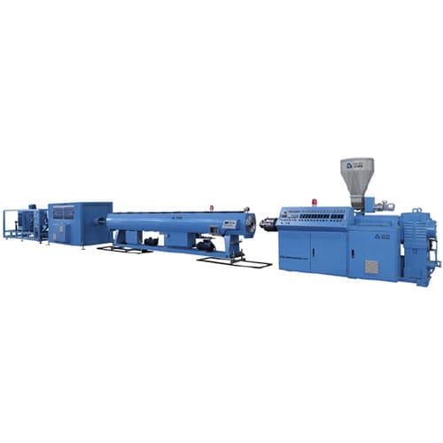 Rohrextrusionsanlage / für Thermoplaste / für PVC / mit Wasserkühlung