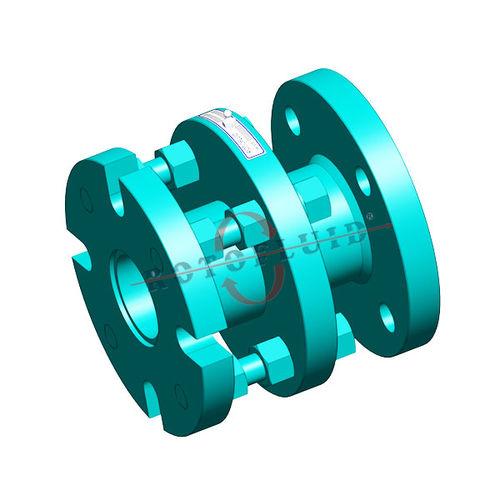 Flanschanschluss / gerade / hydraulisch / pneumatisch