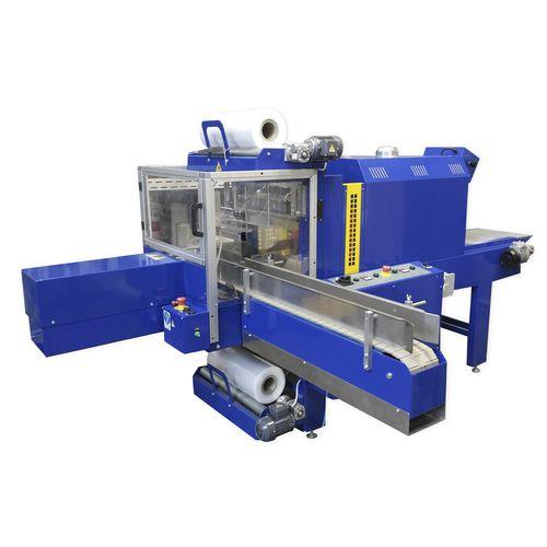 vollautomatische Schrumpffolienverpackungsmaschine / Flaschen / mit Schrumpftunnel / hohe Drehzahl